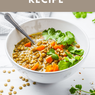 Lentil Soup - See how to make this delicious lentil soup recipe. It's easy! Have lentil soup for dinner in an hour or less!