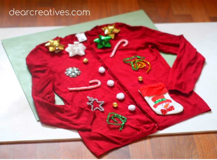 Ugly Christmas Sweater - DIY packed full of ideas for your ugly Christmas sweater. These are festive and fun. DearCreatives.com #uglychristmassweater #diy