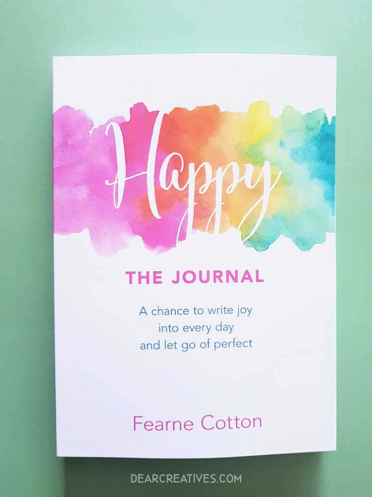 Happy The Journal - Book cover Book overview and review at DearCreatives.com #happiness #happy #journaling #bookreview #journals