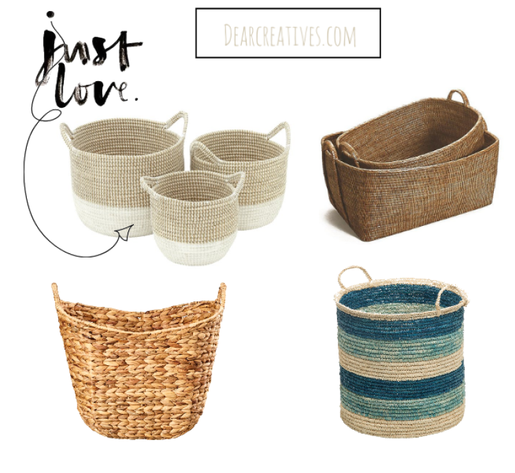 Use baskets for organizing. Top ideas and picks for keeping your home organized. DearCreatives.com