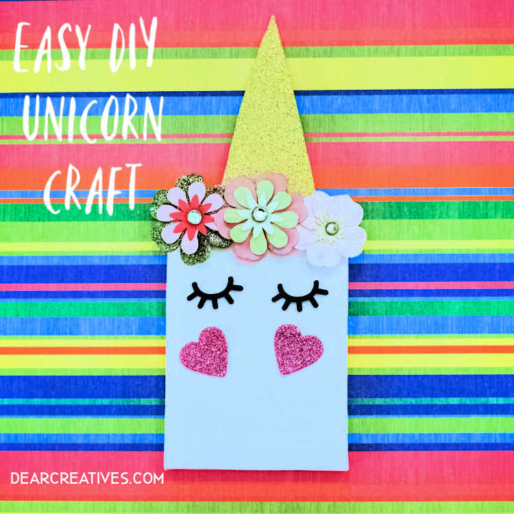 Unicorn Craft – Easy Mini Unicorn Canvas