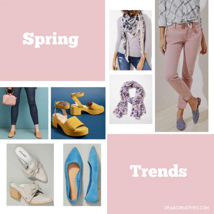 Cute Spring Outfits - Spring trends - shoes, scarves, pants, tops...DearCreatives.com