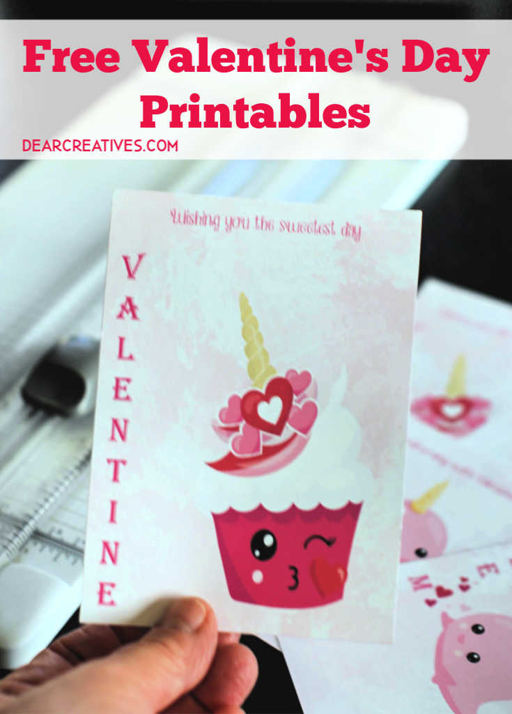 Valentine's Day Printables Designed by © 2019 Theresa Huse Graphic credits PrettyGrafik - Free Printables