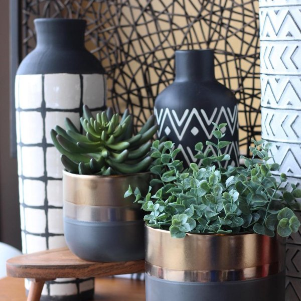 geometric and tribal vases