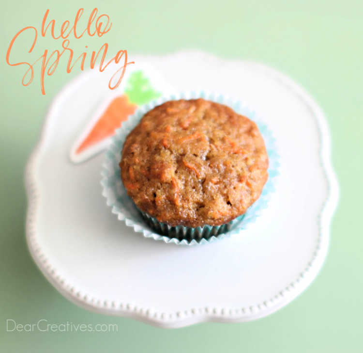 Are you ready to make cupcakes_ Try this recipe for carrot cake cupcakes which are easy to make perfect for spring. Frosted or unfrosted. DearCreatives.com