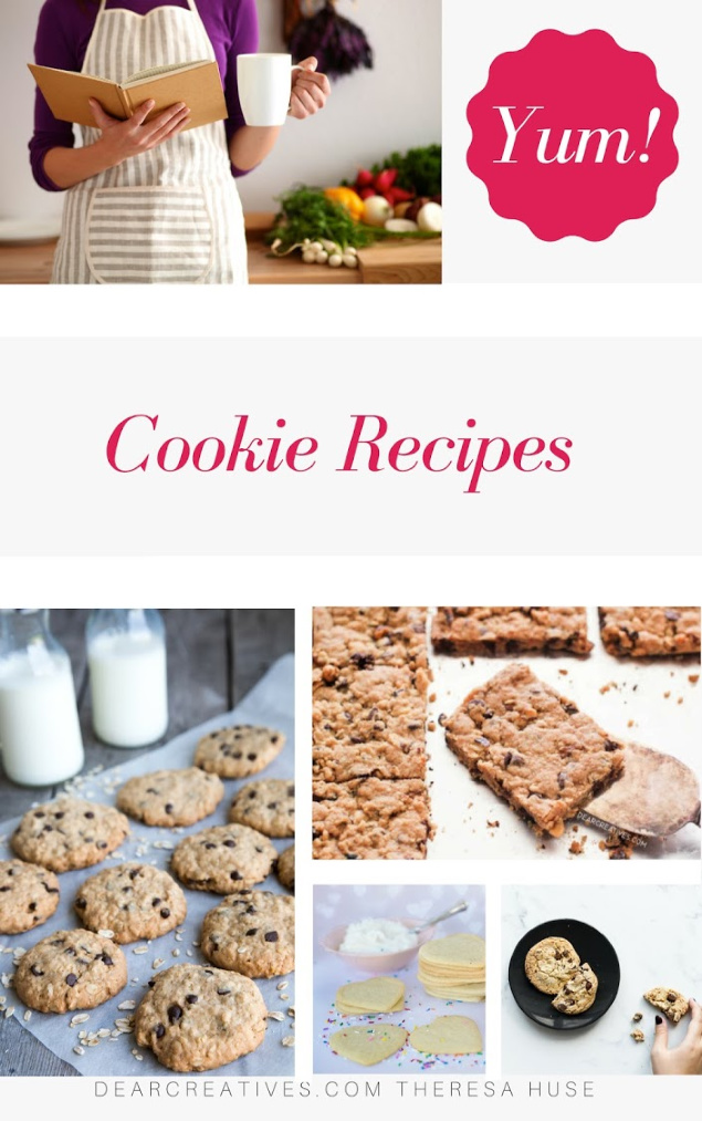Cookie Recipes - New recipes for cookies always being added to this resource. Try these easy to make cookie recipes. DearCreatives.com #cookierecipes #cookies #homemadecookierecipes #cookiesfromscratch #cookiedecorating #easycookies #cookiehacks #tasty #delicious #easy