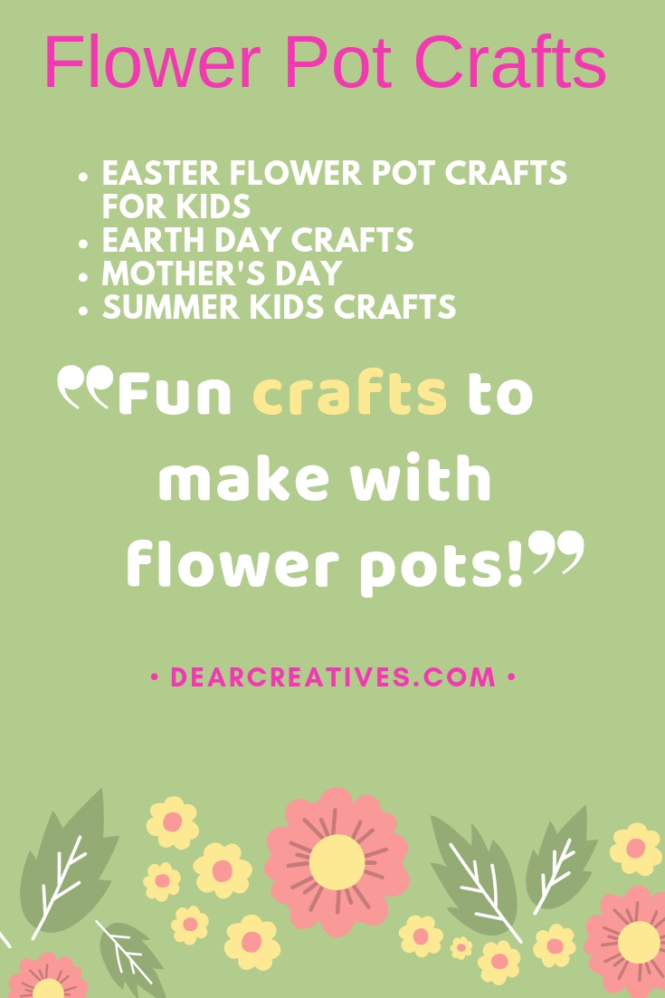 DearCreatives.com #flowerpotcrafts #planters #seedpacketprintable #gardenkitdiy #spring #summer #kidscrafts #earthday #fun #easy #craftsforkids #craftsforadults #teencrafts