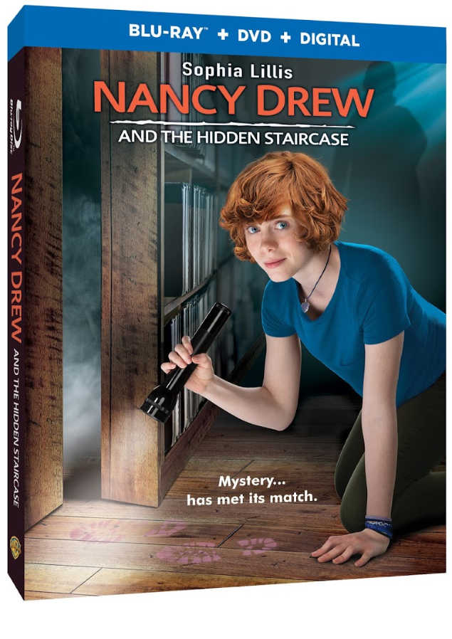 Nancy Drew And The Hidden Stair Case Blu-Ray, DVD and Digital - Find out more about this Nancy Drew Movie at DearCreatives.com #nancydrew #thehiddenstaircase #movies