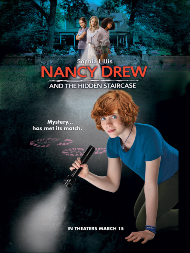 Nancy Drew Movie- Nancy Drew and the Hidden Staircase - new movies to see based on the mystery novels of Nancy Drew. #NancyDrew #TheHiddenStaircase #NancyDrewMovie #movies #newmovies #familymovies