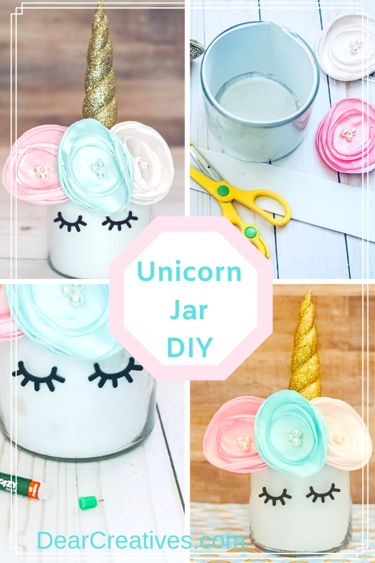 Unicorn Jar DIY For Unicorn Centerpieces, Parties, Decor…