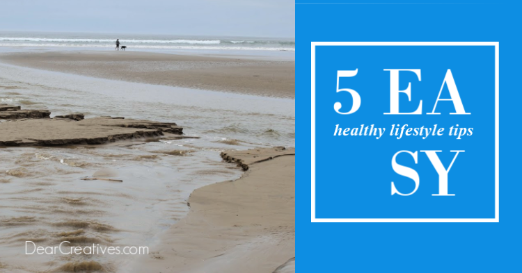 Easy tips for focusing on your health and wellness routine. DearCreatives.com #morningroutines #wellness #healthylivingtips
