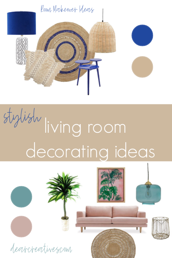 Living Room Decorating Ideas - DearCreatives.com #decoratingideas #decoratingtips#livingroom #decor #dearcreatives #stylish #chic #boho #modern