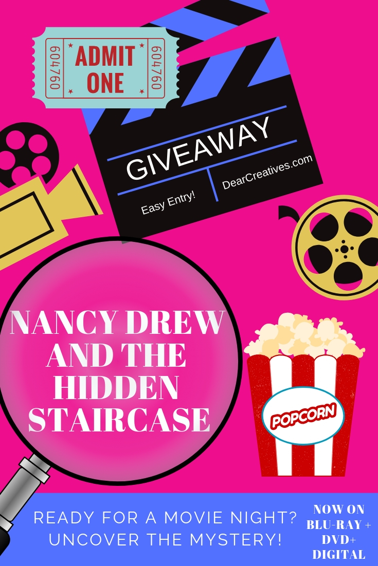 Nancy Drew And The Hidden StairCase Ready For Movie Night_ Uncover the mystery. #movies #dvd #entertainment #movienight #family #mystery #warnerbros #ad #contest #giveaway
