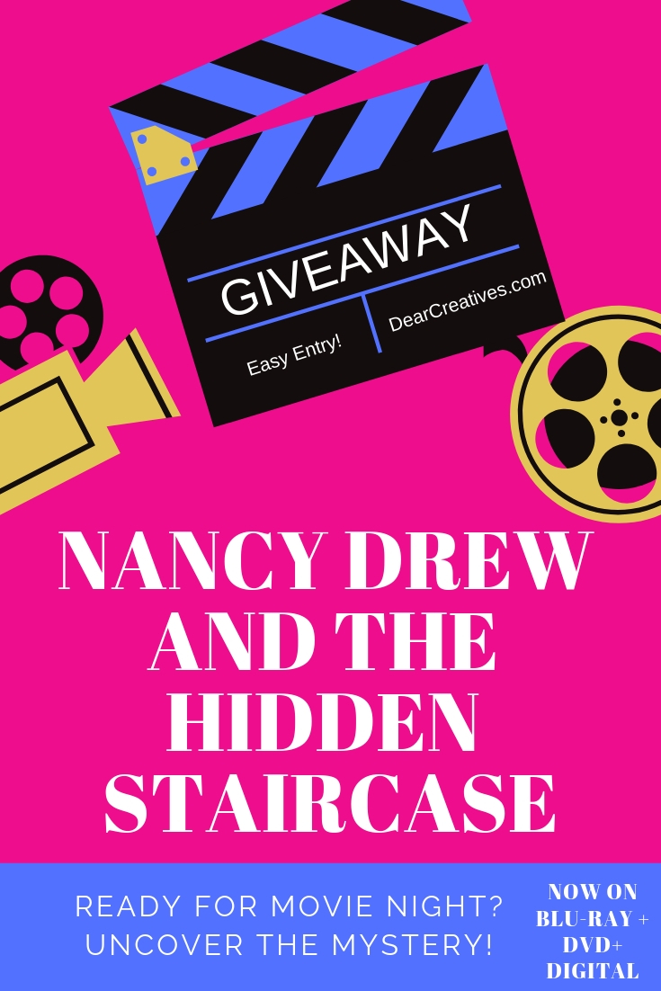 Nancy Drew And The Hidden Stair Case Blu-Ray, DVD and Digital - Find out more about this Nancy Drew Movie at DearCreatives.com #nancydrew #thehiddenstaircase #movies #sponsored #nancydrew #thehiddenstaircase #warnerbros #ad