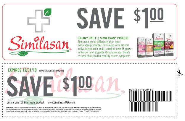 Dollar Off Coupon for Similasan Allergy Relief