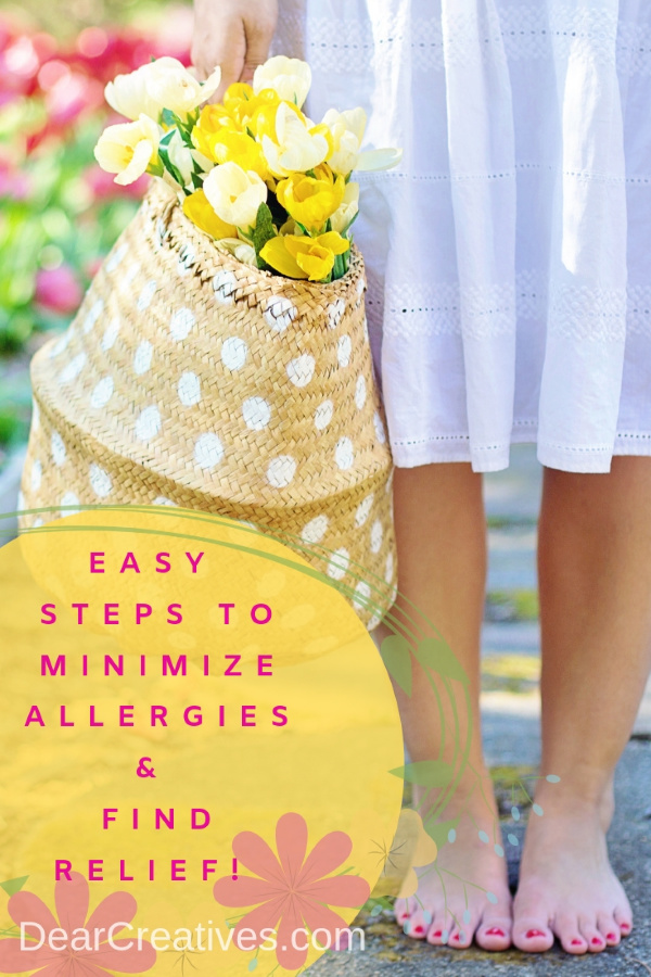 Easy steps to minimize allergies and find relief. Tips for keeping your house prepped and ready for allergy season. Don't let allergies drive you. Take the wheel! DearCreatives.com