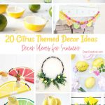 Lemon Decor Ideas - DIY Crafts for Home Decor. 20 DIY Citrus Crafts and Lemon DIYs to make. Freshly squeezed ideas you will love making and decorating your home for summer. DearCreatives.com #diy #crafts #homedecor #lemon #citrus