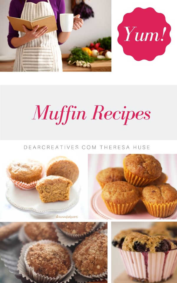 Muffin Recipes - There are so many muffin recipes to try. Bake muffins by picking one of our favorites from here. #muffinrecipes #muffins #baking #bakemuffins #dearcreatives