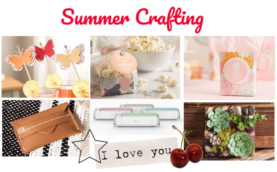 Summer Crafting - Cricut Maker and Supplies for Crafts - Big Cricut Sale and Deals - get ideas, inspiration and see how to make crafts with Cricut.