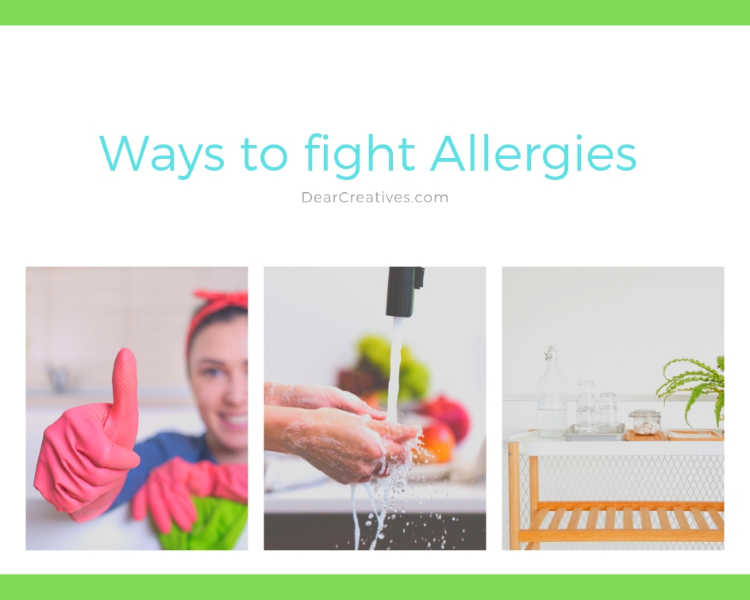 Ways to fight Allergies - Practical tips for reducing allergies, seasonal allergies and allergies in your home. DearCreatives.com
