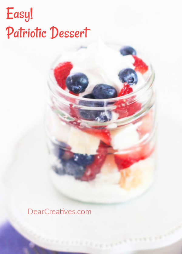 Patriotic Dessert – Quick, Easy And No-Bake!