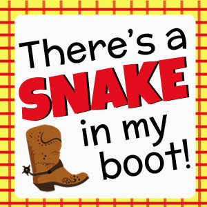 Free Toy Story Themed Printable Snake in My Boot DearCreatives.com