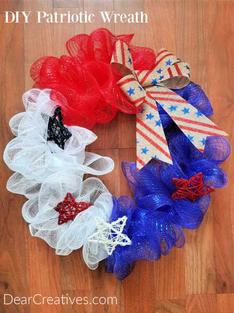 Patriotic Wreath – Red, White and Blue Wreath