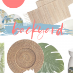 backyard decor party ideas and backyard decor to set the mood for summer fun. DearCreatives.com #backyard #decorideas #backyardparty #tabledecorations #ideas #decor #dearcreatives