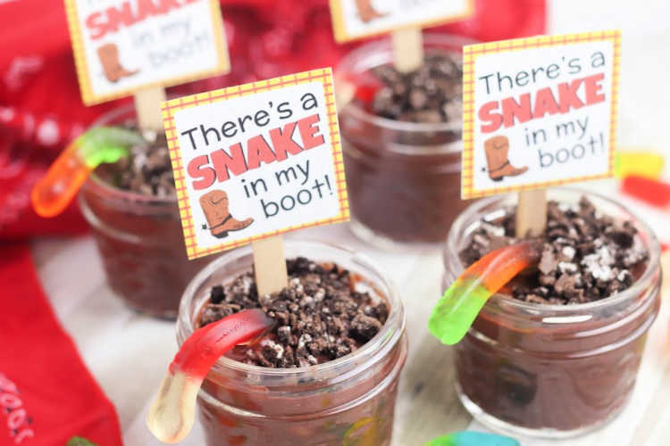 mini dessert cups recipe - DIY, how to and free printable Toy Story themed saying at © 2019 DearCreatives.com
