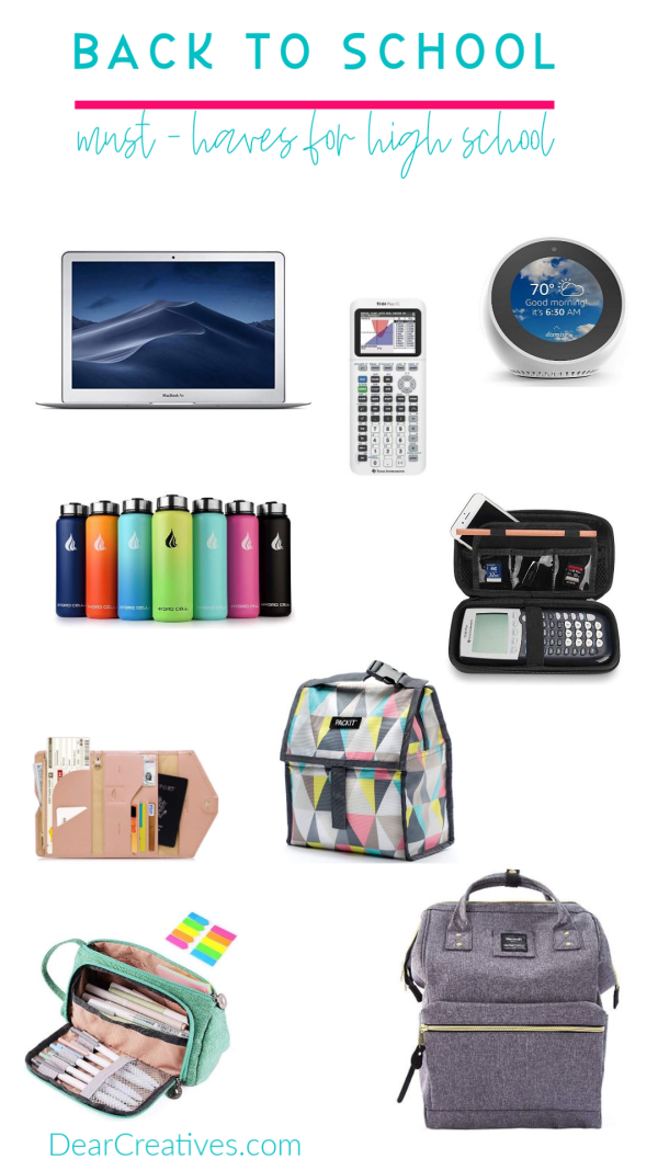 Back To School High School Supplies + Must-Have Lists