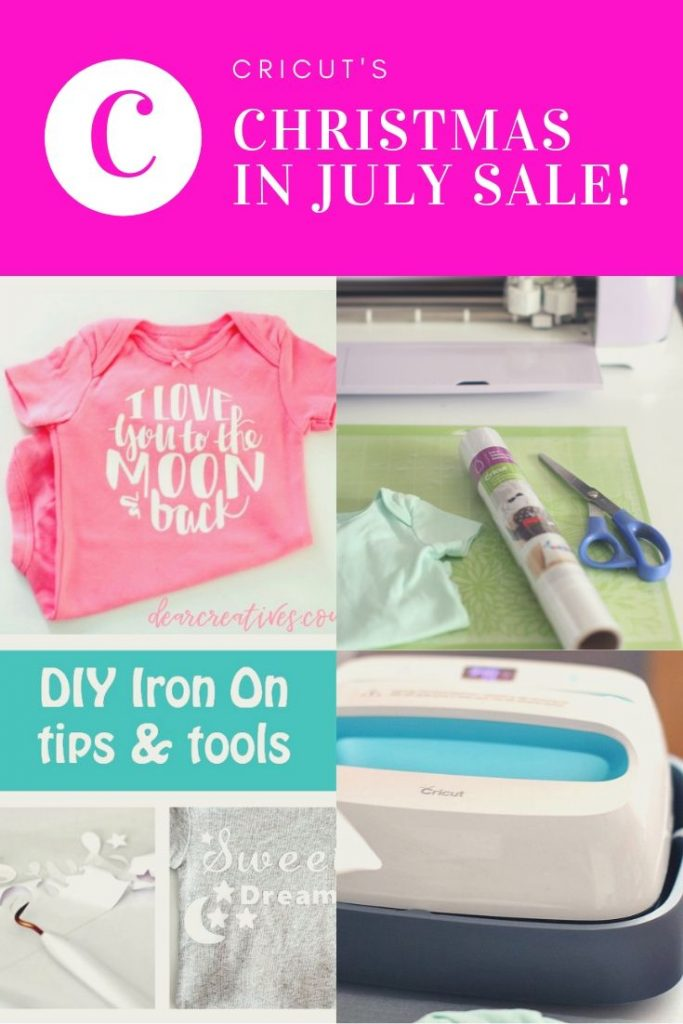 Christmas in July sale! Grab all the details, discount codes and shop! #cricut #sale #christmasinjuly