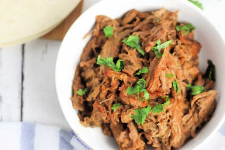 Mexican pork carnitas recipe - this is really easy to make, quick prep and slow-cooked. DearCreatives.com #porkcarnitas #mexicanporkcarnitas #crockpotporkcarnitas #slowcooked