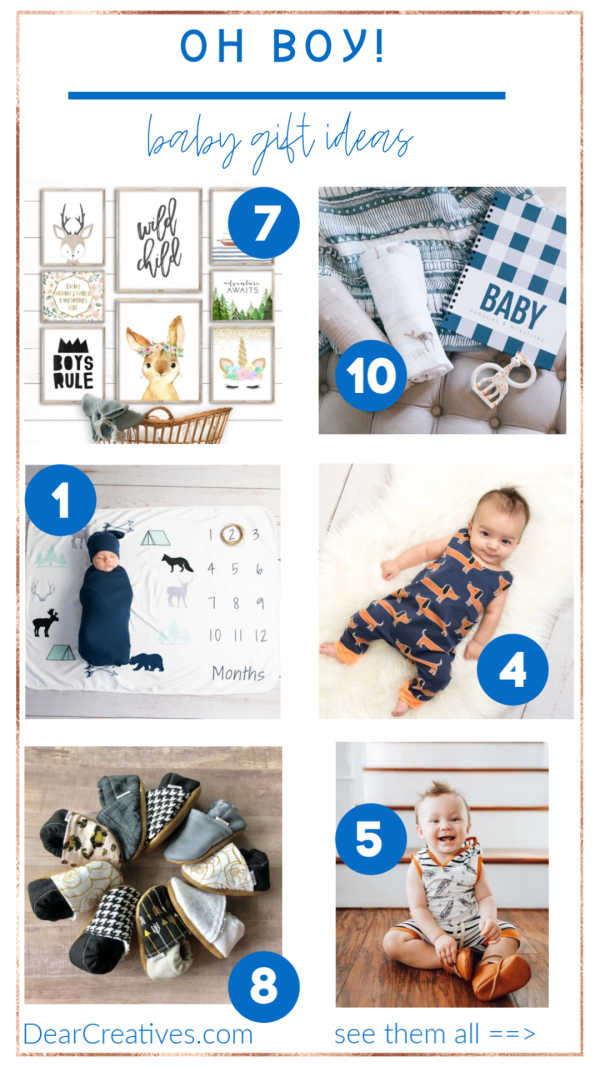 "Baby Boy Gift Ideas ""Oh Boy!"" These Are Adorable!"