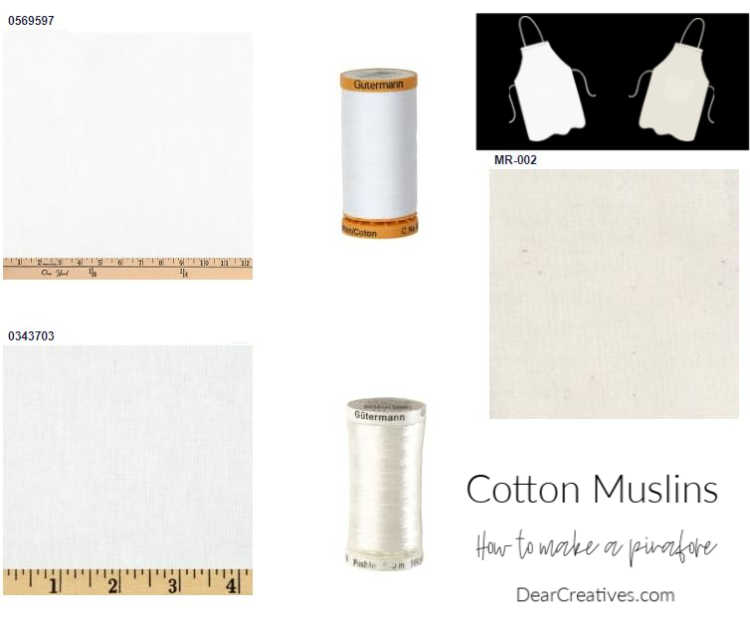 Muslin fabrics and sewing threads for sewing - DearCreatives.com