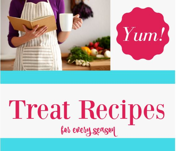 Treat Recipes- Easy dessert treats to make and bake for every season - grab something to make or bake and enjoy making your sweet treat recipes today! DearCreatives.com