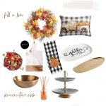 Fall Finds - Home decor ideas for the living room, dining room and kitchen. DearCreatives.com