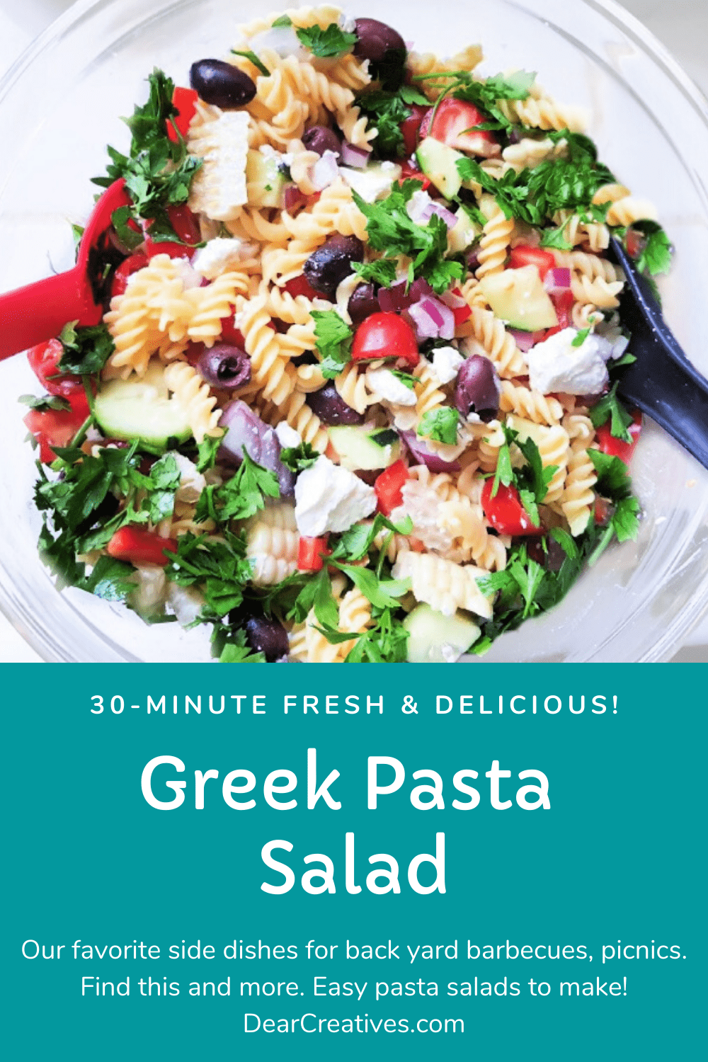 Greek Pasta Salad Quick And Easy To Make!