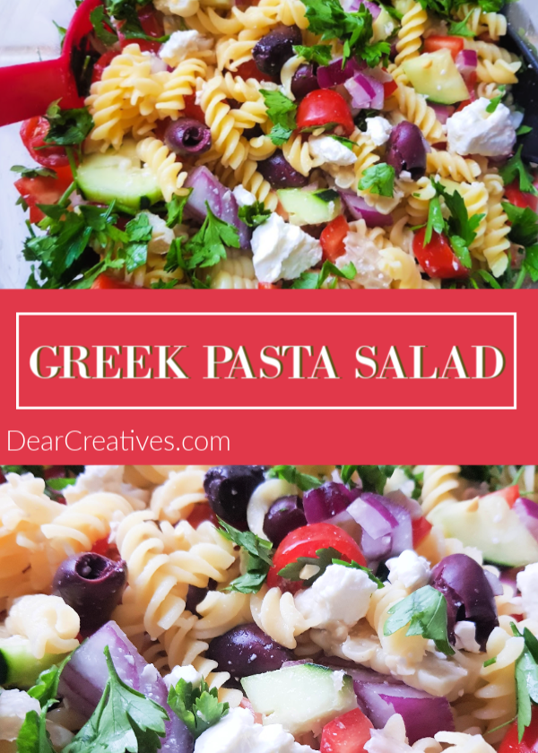 Greek Salad Recipe - Easy, delicious and healthy. Side dish or light dinner you will love making over and over again. DearCreatives.com