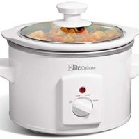 Slow Cooker, 1.5 Quart, White