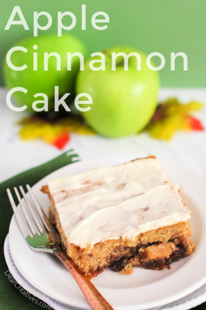 Apple Cinnamon Cake - Easy to make and scrumptious! This is one cake to make over and over again any time you have apples on hand. © DearCreatives.com