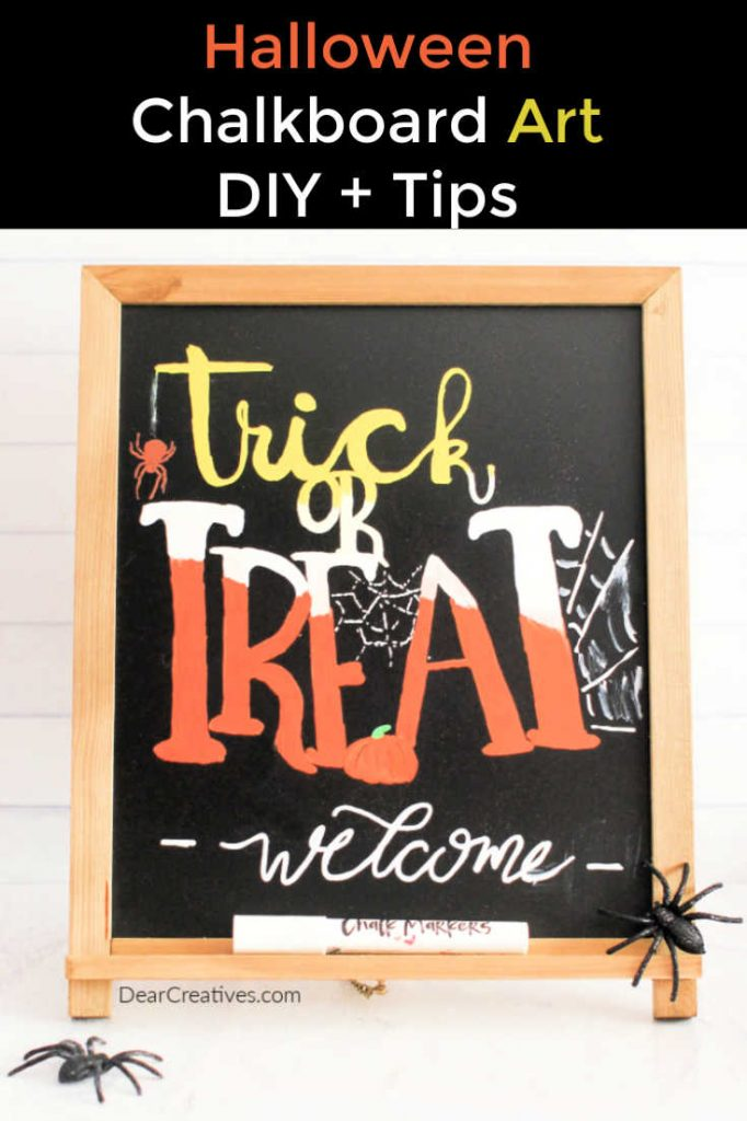 Halloween Chalkboard Art - Chalkboard art, lettering, tips and ideas to make with chalk pens. Chalkboard Art - DearCreatives.com