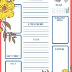 Printable To-Do List - Grab this free printable checklist, print it and knock out your to dos! DearCreatives.com