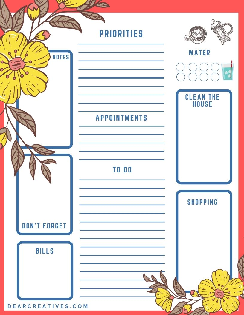 Printable To-Do List – Get It Done/Check It Off!
