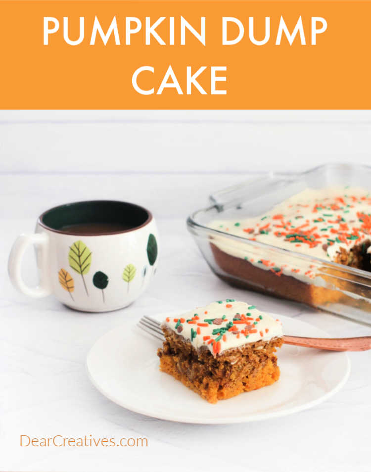 Pumpkin Dump Cake - The best fall cake that is so easy to make and a crowd-pleaser! DearCreatives.com