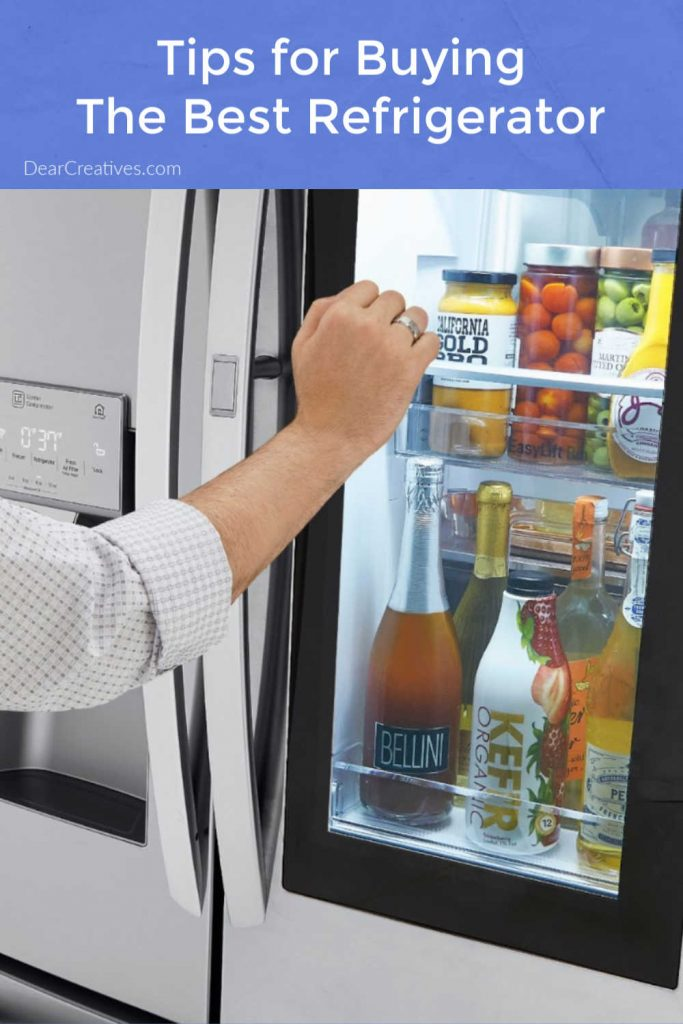 Tips For Buying A Refrigerator + LG InstaView™ Door-in-Door® Refrigerator with Craft Ice™ LG's newest model is a dream come true! DearCreatives.com
