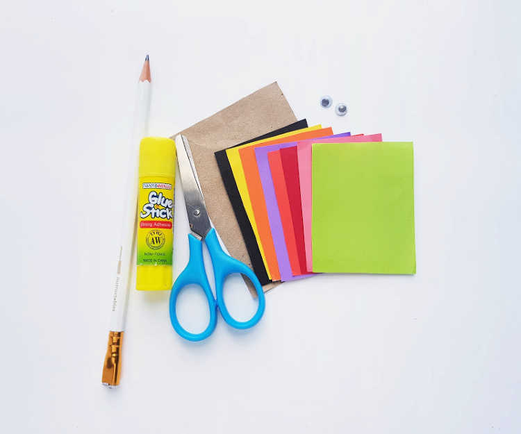 supplies for making a turkey craft - DearCreatives.com