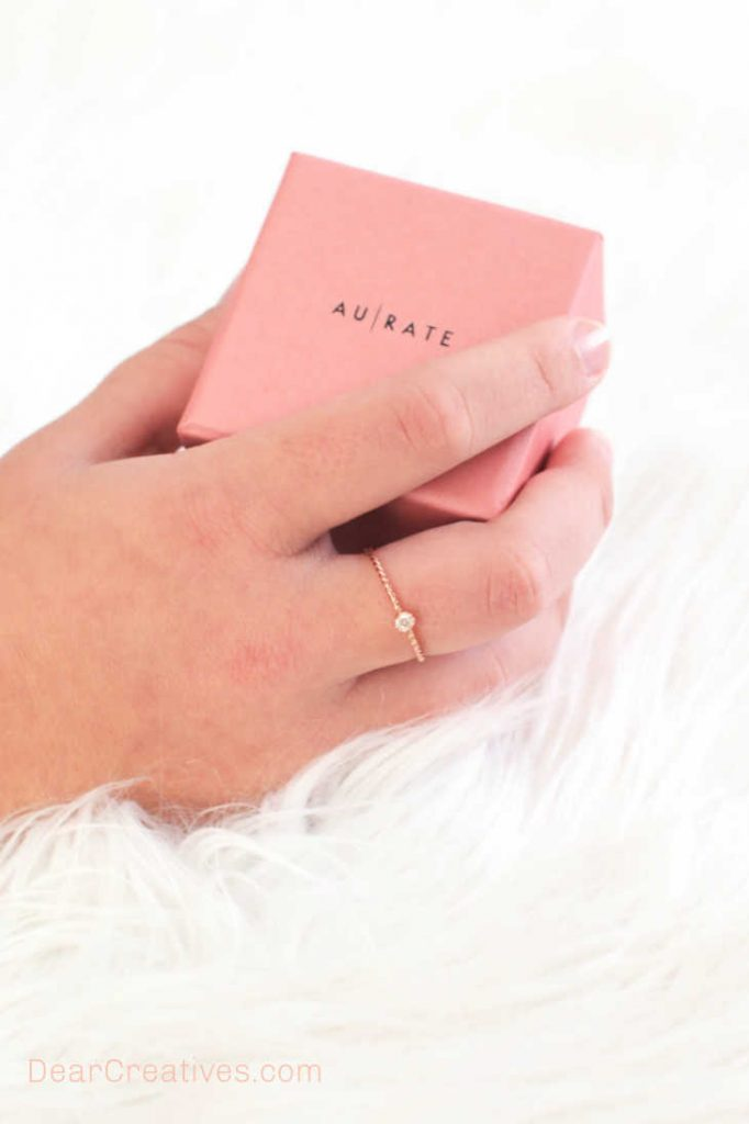 A few of our favorite things, dainty rings... gift ideas for her. DearCreatives.com
