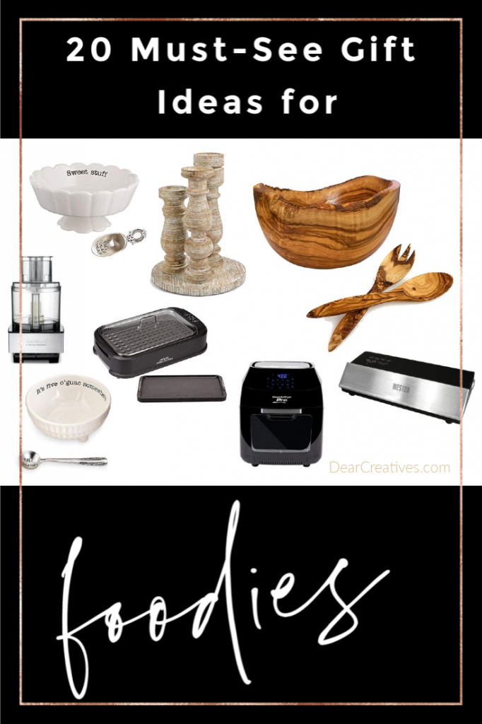 Gifts for foodies - Gifts for Cooks 20 Must-see ideas that are sure to please the food lover. DearCreatives.com