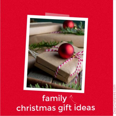 Family Christmas Gift Ideas - Are you looking for Christmas Gift Ideas for a Family_ We have a must-see list of the best gift ideas for the family! DearCreatives.com