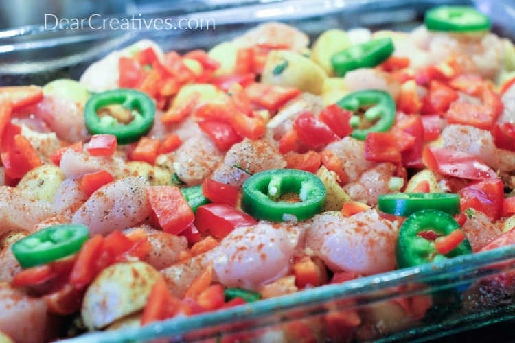 How-to-make-and-assemble-Mexican-Chicken-Casserole-recipe-at-DearCreatives.com